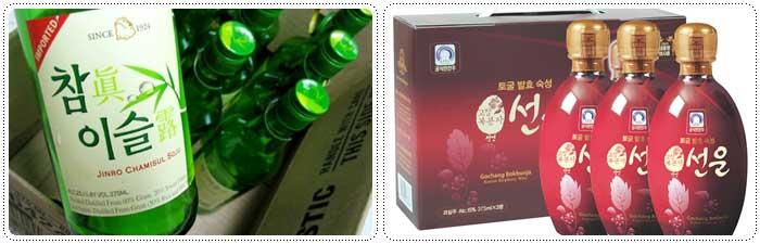 เหล้าโซจูและไวน์ราสเบอร์รี่