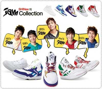 รองเท้ารีบ๊อกซ์รุ่นใหม่ล่าสุดที่วางจำหน่ายในปี 2009 โดยใช้วง Shinee มาเป็น presenter