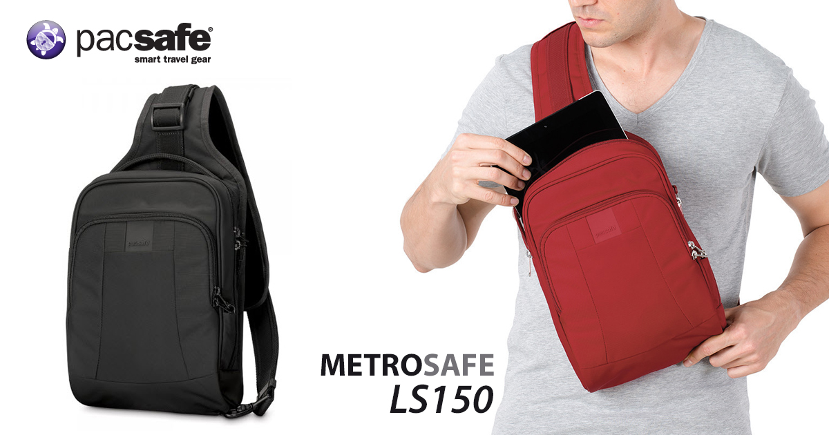 6cdf3bec629b กระเป๋า Pacsafe Metrosafe LS150 anti-theft sling backpack