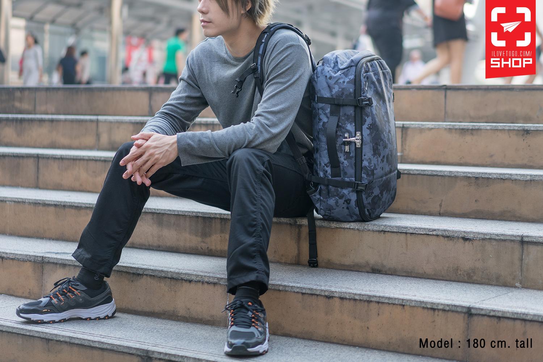 กระเป๋า Pacsafe Vibe 40 Anti-theft 40L carry-on backpack Grey